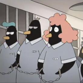 Peguin Behind Bars
