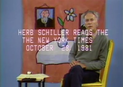 Herb Schiller Reads New York Times